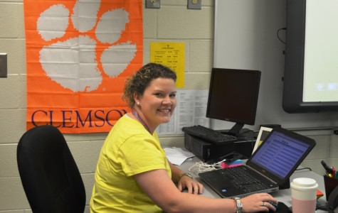 Morgan Cox comes to Greer High School to teach Business Education. Cox, a 2001 graduate of Greer High School, is the sister of English Teacher and Yearbook Adviser Megan Yount.