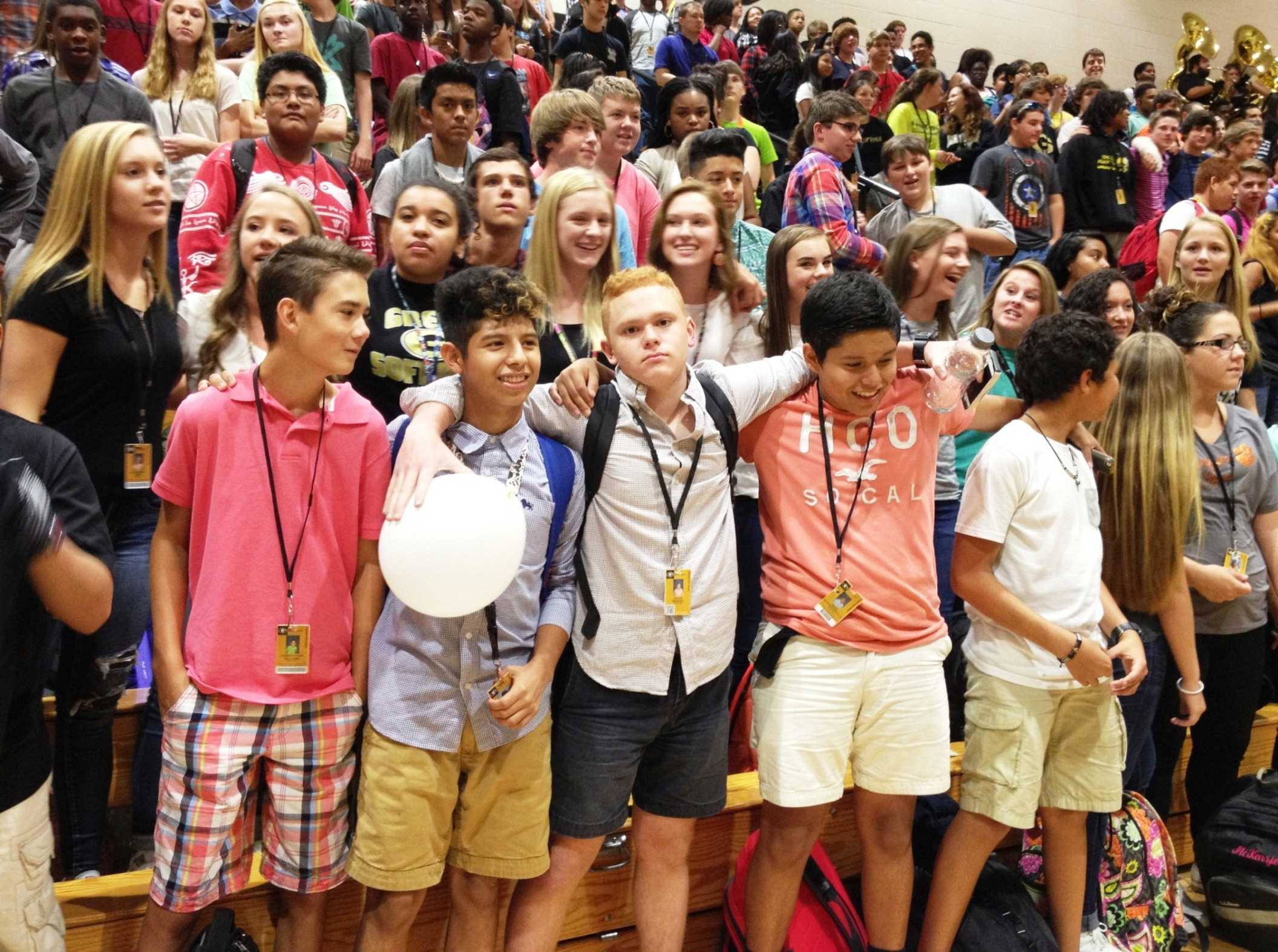 high school as a freshman Link crew is a high school transition program that welcomes freshmen and  makes them feel comfortable throughout the first year of their high school  experience.
