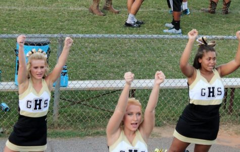 JV Cheerleaders Enjoy First Game; Bring Spirit to the Yellow Jackets