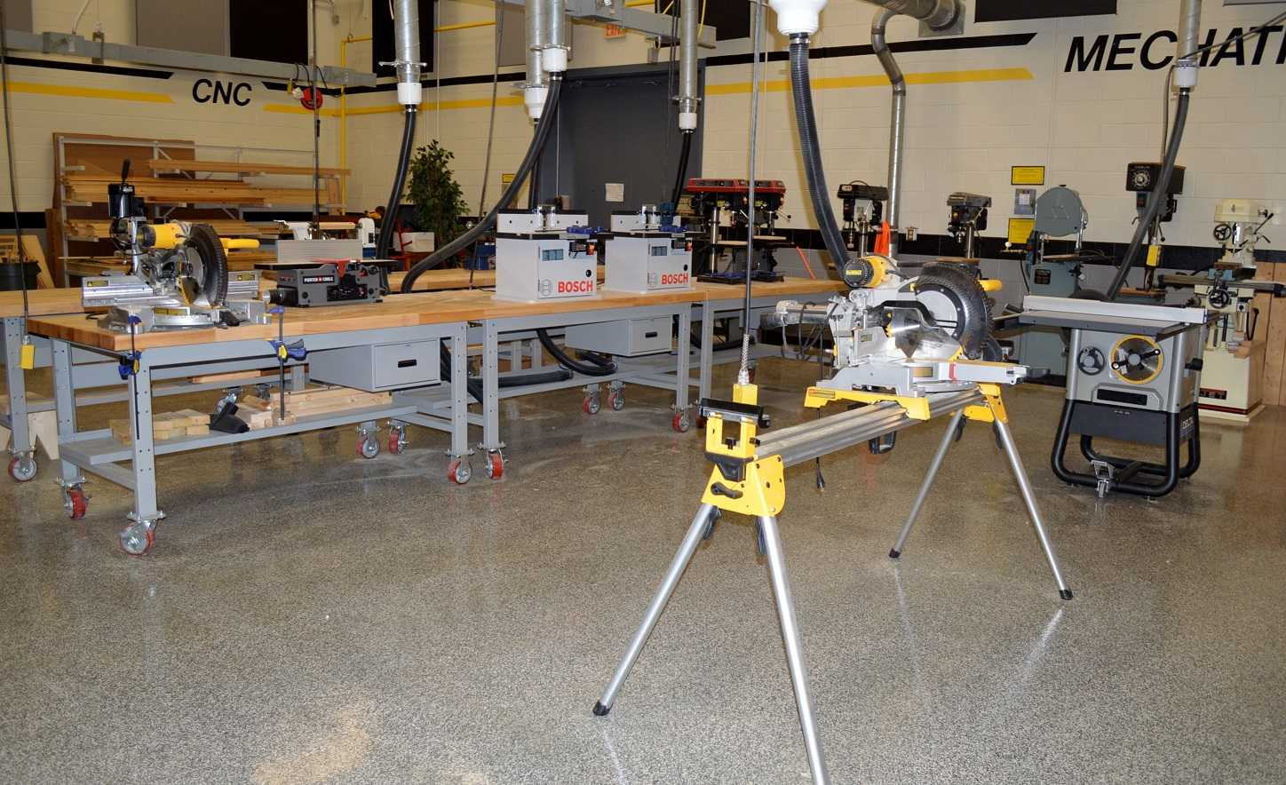 The Greer High School Industrial Technology and Advanced Manufacturing Lab boasts over $250,000 worth of equipment.