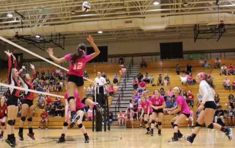 "Yellow Jackets Fall to Tigers on Volleyball ""Pink Out"" Night"