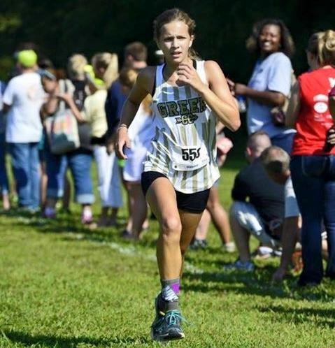 Greer High School sophomore  Laura Yarborough sprints towards the finish line in a race this year.