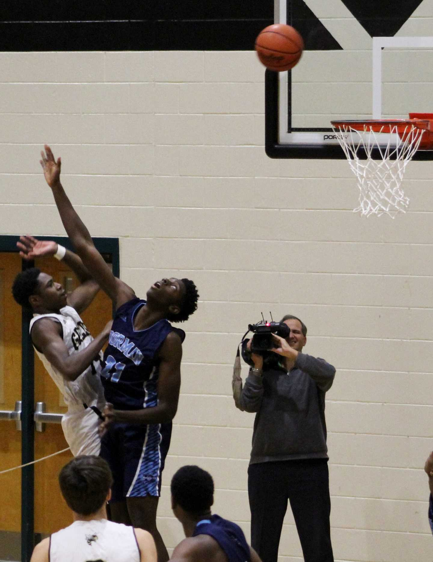 Greer High School junior Delmar Moore goes up for a shot in a recent contest. The Yellow Jackets defeated rival Blue Ridge High School Tuesday night.