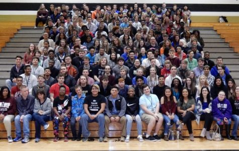 Graduating Class Takes Senior Class Picture