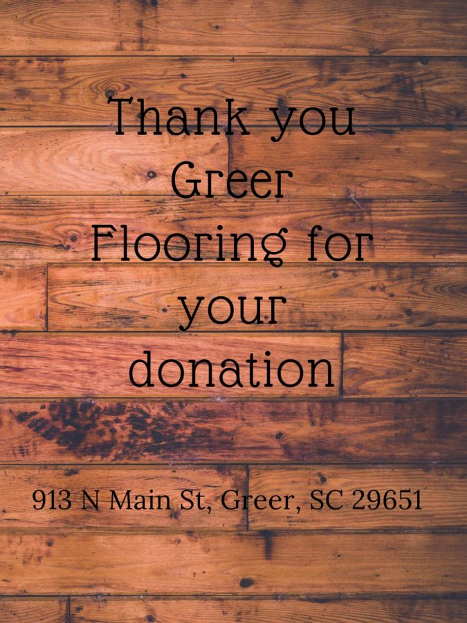 Thank you Greer Flooring for Your Donation!