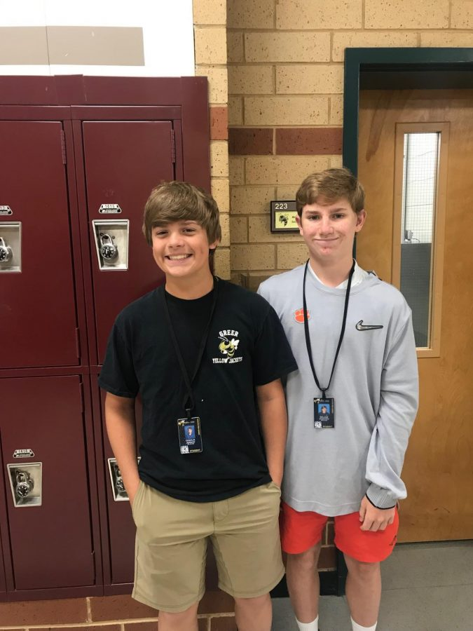 Charlie and William are new members of the Leadership class