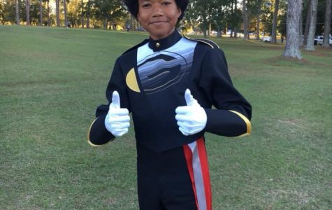 The Face of the Greer Marching Band